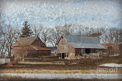 Photograph - Ice Chrystal Barns by Kathy M Krause