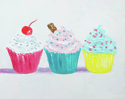 Painting - Frosted Cupcakes by Jan Matson
