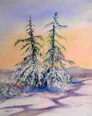 Painting - Frosted Dawn by Anna Jacke