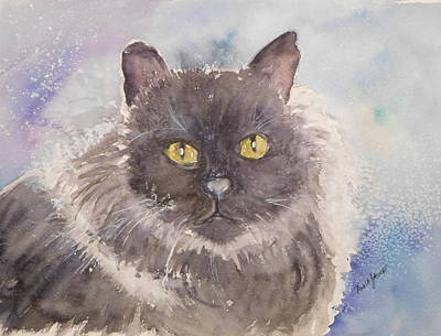 Painting - Frosted Feline by Anna Jacke