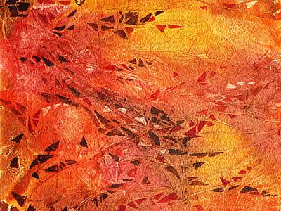 Fireplace Painting - Frosted Fire I by Irina Sztukowski