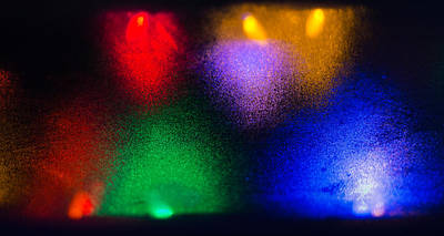 Photograph - Frosted Glass And Holiday Lights by John Brink
