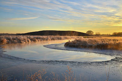 Photograph - Frosted Nippersink Creek In Glacial Park On Subzero Morning by Ray Mathis
