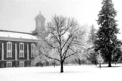 Photograph - Frosted Tree And The Tabernacle by David Andersen