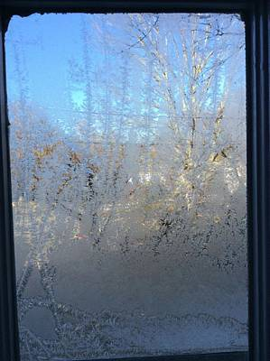 Photograph - Frosted Window Pane by Margie Avellino