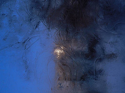 Photograph - Frostwork - Engraved Night by Attila Meszlenyi