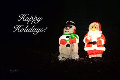 Photograph - Frosty And Santa Bffs by Sharon Popek
