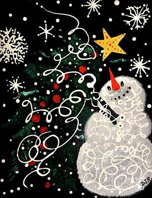 Frosty Art Original by Davids Digits