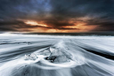 Photograph - Frosty Beach by Jorge Maia