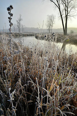 Photograph - Frosty Big Bend In Nippersink Creek by Ray Mathis