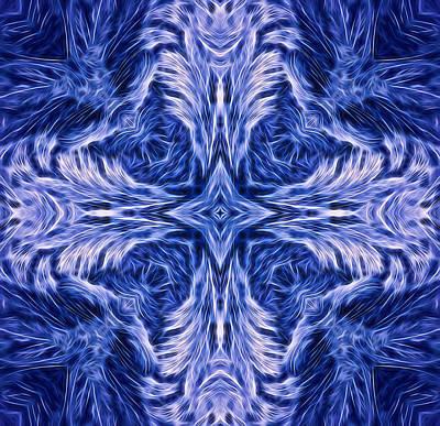 Digital Art - Frosty Cross 1 by Lilia D