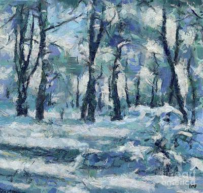 Painting - Frosty Day by Dragica Micki Fortuna