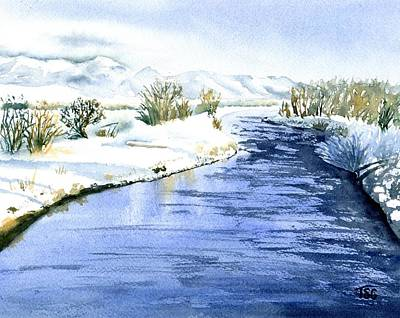 Gallatin Painting - Frosty Day On The East Gallatin by Tammy Crawford