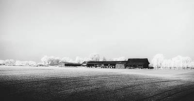 Photograph - Frosty Farm Scene - Normandy, France by Unsplash