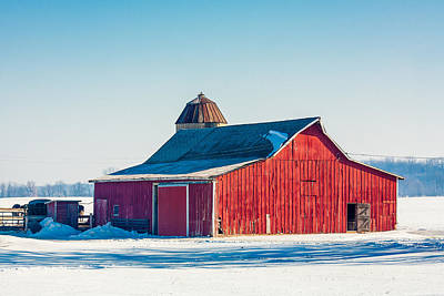 Shed Photograph - Frosty Farm by Todd Klassy