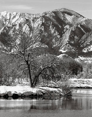 Photograph - Frosty Flatirons 2 by Marilyn Hunt