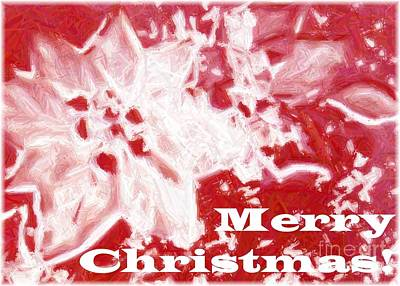Photograph - Frosty Floral Merry Christmas by Barbie Corbett-Newmin