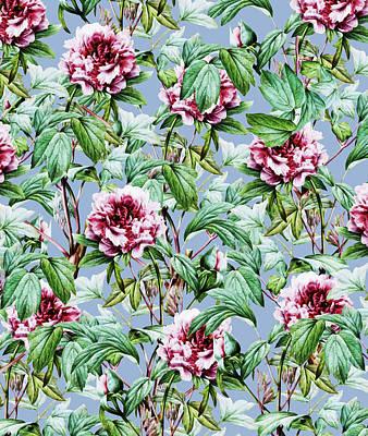 Digital Art - Frosty Florals by Uma Gokhale