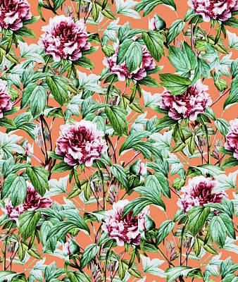 Digital Art - Frosty Florals V2 by Uma Gokhale