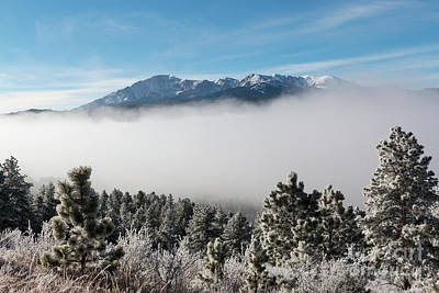 Photograph - Frosty Fog Bank On Pikes Peak by Steve Krull