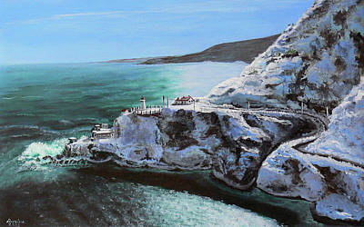 Snow Forts Painting - Frosty Fort Amherst by Lorraine Vatcher