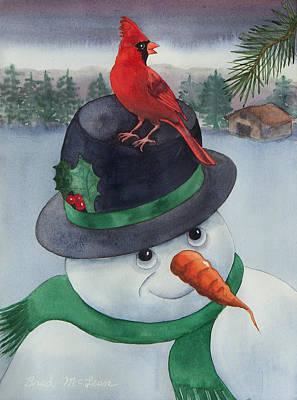 Frosty Friend Art Print by Brad McLean