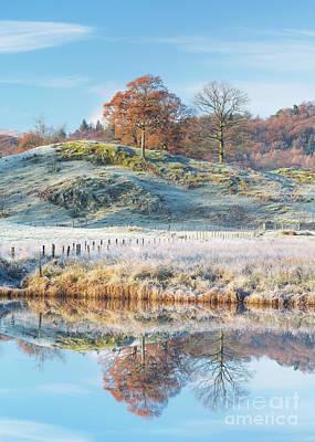 Frosty Landscape Elterwater Art Print