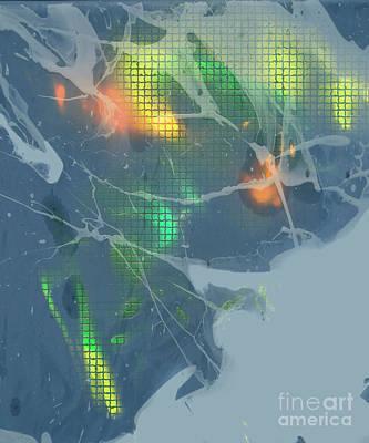 Digital Art - Frosty Lights by Deborah Nakano