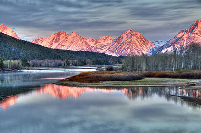 Photograph - Frosty Morning In The Tetons by Steve Stuller