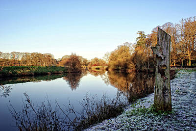Photograph - Frosty Morning On The Riverbank. by Colin Clarke