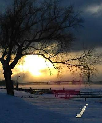 Photograph - Frosty Morning Sturgeon Bay Harbor by Perry Andropolis
