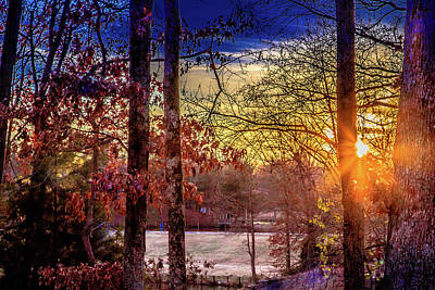Photograph - Frosty Morning Sunrise by Barry Jones