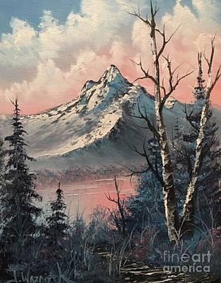 Frosty Mountain  Art Print by Paintings by Justin Wozniak