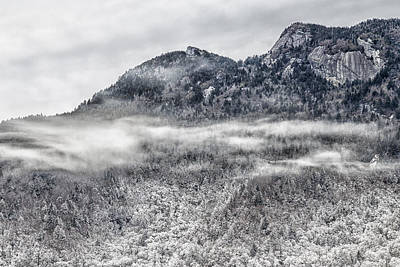Photograph - Snowy Grandfather Mountain - Blue Ridge Parkway by Victor Ellison