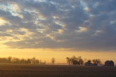 S Landscape Photograph - Frosty Spring Sunrise by Peggy King