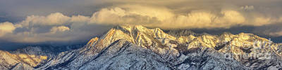 Photograph - Frosty Sunset On Mount Olympus by Spencer Baugh