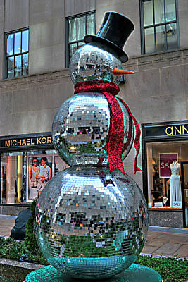 Photograph - Frosty The Disco Snowman  by Timothy Lowry