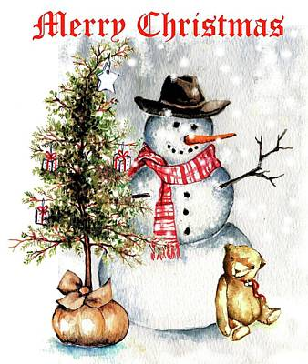 Frosty The Snowman Greeting Card Art Print