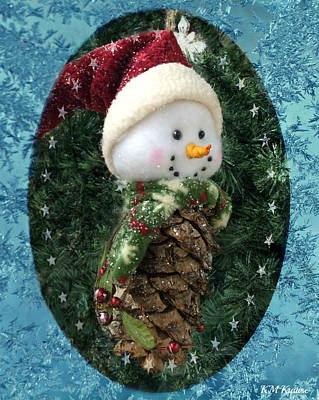 Photograph - Frosty The Snowman by Kathy M Krause