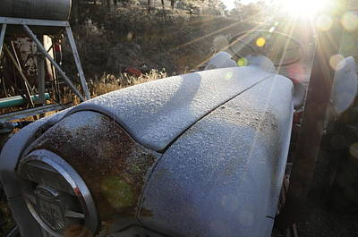 Photograph - Frosty Tractor by Susie Rieple