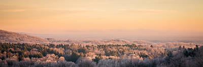 Photograph - Frosty Valley Panorama by Chris Bordeleau