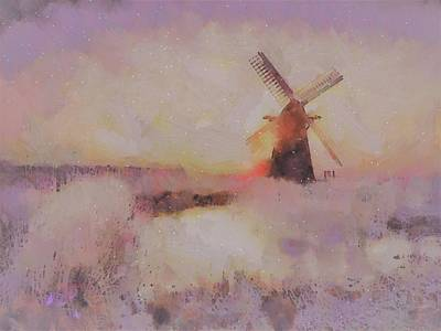 Painting - Frosty Windmill By V.kelly by Valerie Anne Kelly