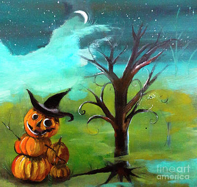 Painting - Frostys Cousin Pumpkin Somethin Painting By Lisa Kaiser by Lisa Kaiser