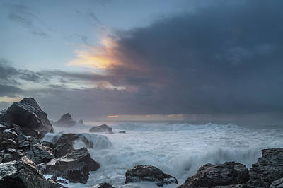 Photograph - Frothy Patrick's Point Seas At Dusk by Greg Nyquist