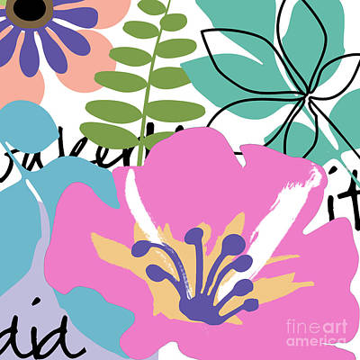 Colorful Flowers Painting - Frou Frou by Mindy Sommers