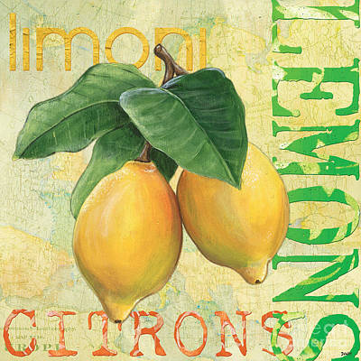 Text Painting - Froyo Lemon by Debbie DeWitt