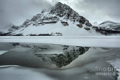 Photograph - Frozen And Foggy At Bow Lake by Adam Jewell