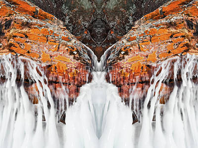 Photograph - Frozen Apostle Islands Mirror by Kyle Hanson