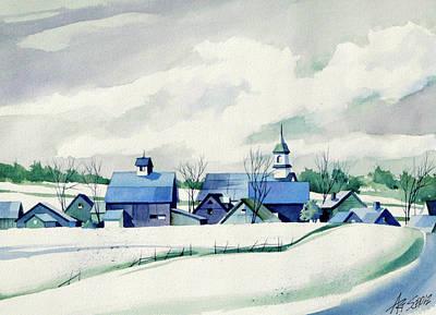 Painting - Frozen Aqua by Art Scholz