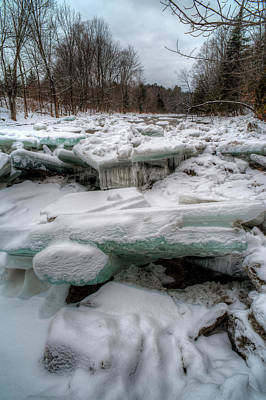 Photograph - Frozen Aquamarine by Patrick Groleau